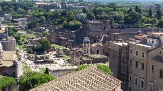 The ruins along The Appian Way